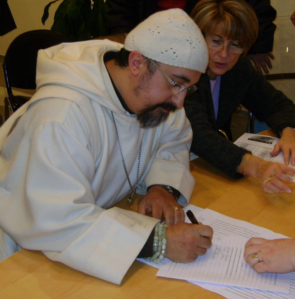 Fratel Michele di Gesù, eremita, firma latto costitutivo di CCPE